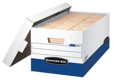 Banker Box, Ltr, 750Lb, Wht/Bllu, PK12