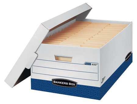 Banker Box, Lgl, 800Lb, Wht/Blu, PK12