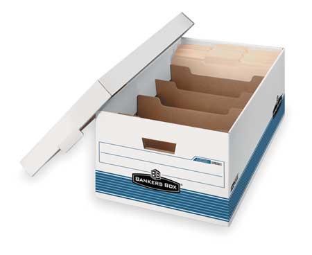 Banker Box, Lgl, 700Lb, Wht/Blu, PK12