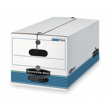 Banker Box, Lgl, 550Lb, Wht/Blu, PK12