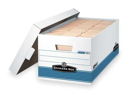 Banker Box, Lgl, 700Lb, Wht/Blue, PK12