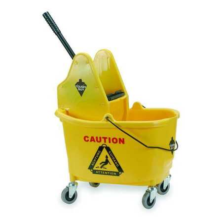 Mop Bucket and Wringer, 8-3/4 gal., Yellow