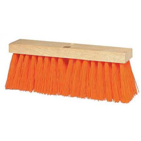 TOUGH GUY Orange Polypropylene Heavy Duty Push Broom