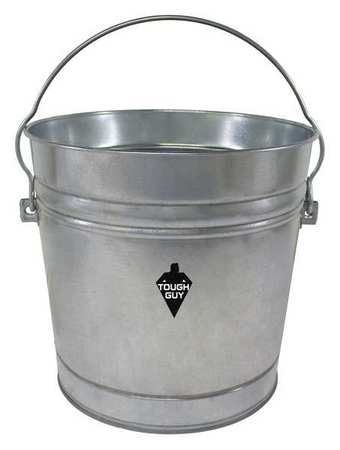 10 gal.  Round  Silver  Trash Can
