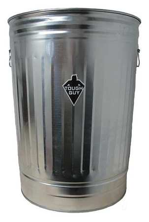 31 gal. Silver Round Utility Container