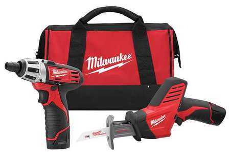 M12 Cordless Combination Kit,  1.5A/hr.,  12V