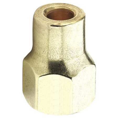Long Nut, 45 deg, Brass, Tube, 3/8 In., PK10