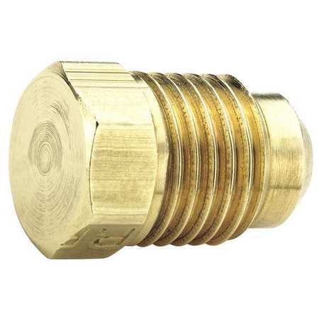 Plug, 45 deg., Brass, Tube, 1/4 In., PK10
