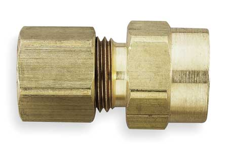 "1/2"" Compression x 3/8"" FNPT Brass Connector 10PK"
