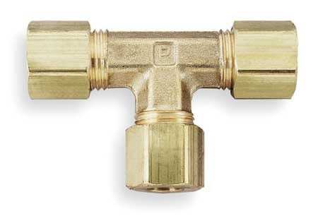 "3/8"" Compression Brass Union Tee 10PK"