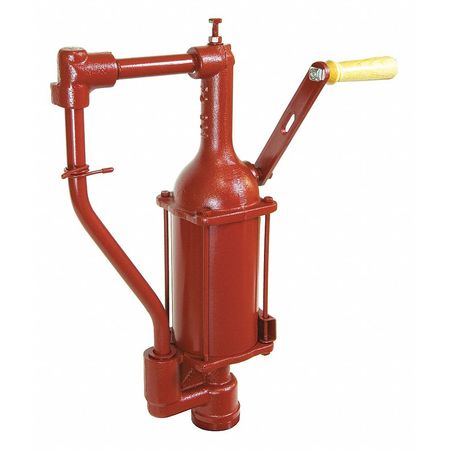 Hand Drum Pump, Rotary, Cast Iron, 1/2In OD