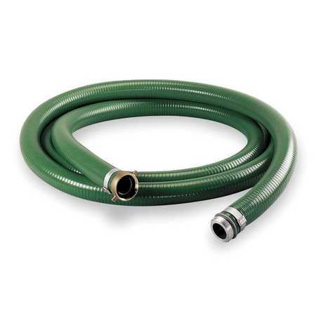 "2"" ID x 20 ft PVC Water Suction Hose GN"