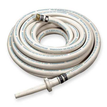 "3/4"" ID x 50 ft EPDM Coupled Washdown Hose WT"
