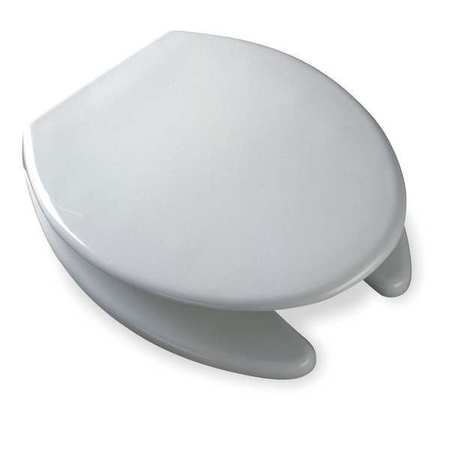 "Commercial Toilet Seat,  Elongated 17-11/16"" Open Front With Cover"