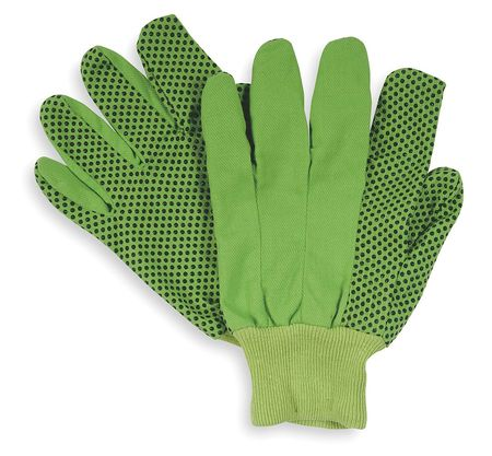 Glove, Cotton,  S, High Visibility Lime Green, PR