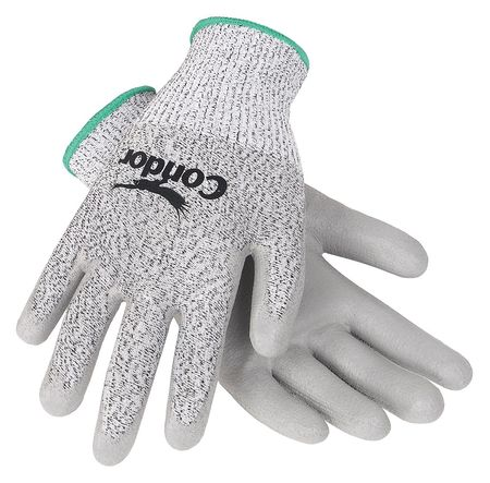 Cut Resistant Gloves, Gray/Gray, XL, PR