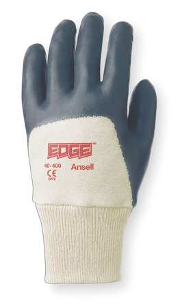 Coated Gloves, 8/M, Blue/White, PR