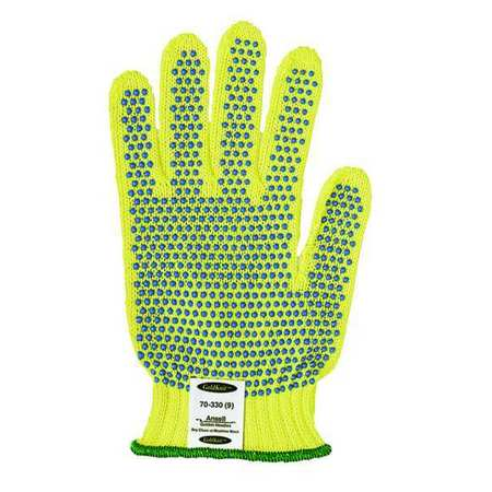 Cut Resistant Gloves, Yellow/Blue, L, PR