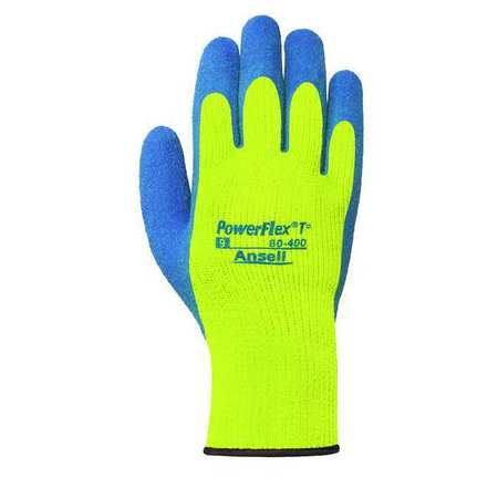 Cut Resistant Gloves, L, Blue/Yellow, PR