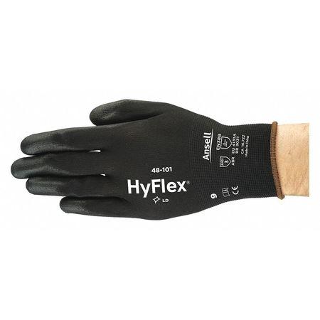 Polyurethane Coated Gloves,  SensiLite,  Black,  Large