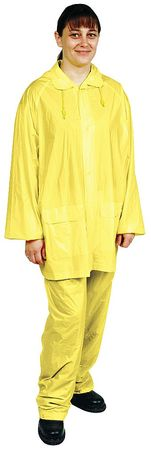 3 Piece Rainsuit w/Detach Hood, Ylw, 4XL