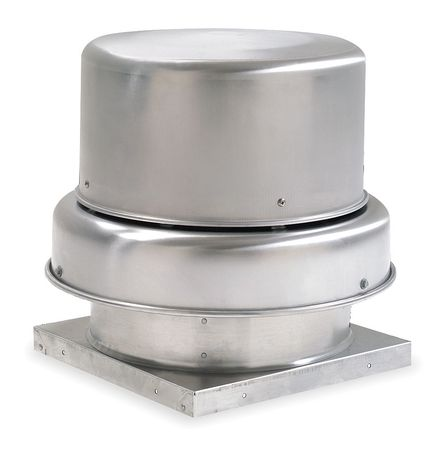 Downblast Vent, Belt Drive, 14-3/4 In
