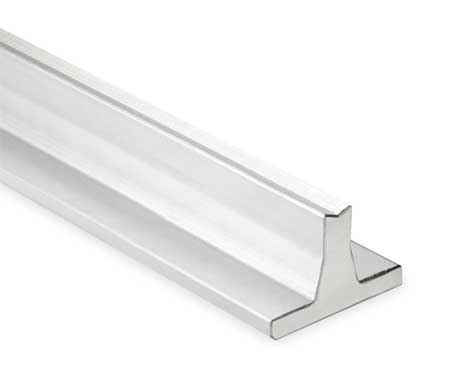 Support Rail, Aluminum, 1.500 In D, 48 In