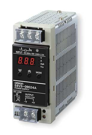 DC Power Supply, 24VDC, 3.75A, 50/60Hz