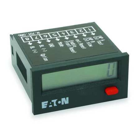 Counter, Electric, LCD, 8 Digits