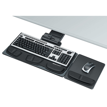 Keyboard Tray, 5-3/4in, Graphite/Silver