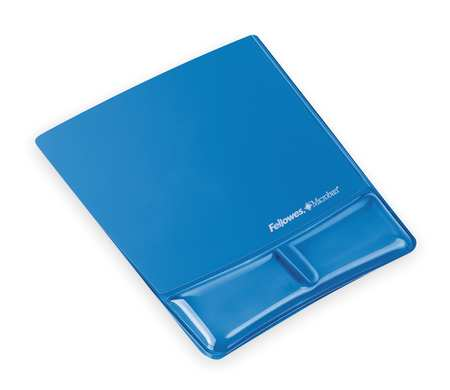 Mouse Pad w/Wrist Support, Blue, Standard