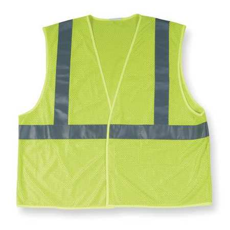 High Visibility Vest, Class 2, XL, Lime