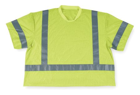 XL Polyester Mesh T-Shirt,  Lime