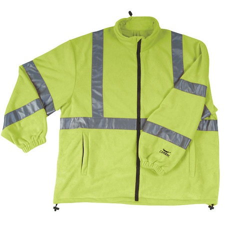 Jacket, Safety, Type 3, Lime, Fleece, XL