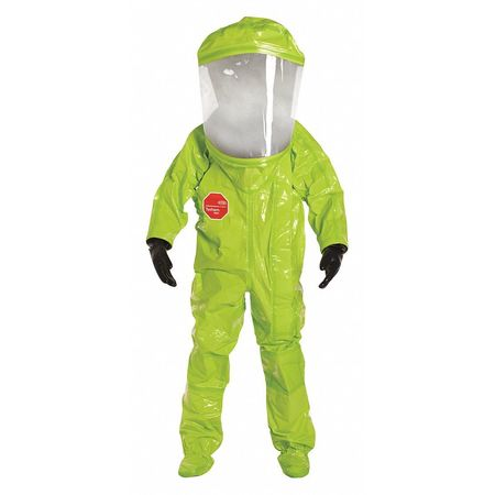 Encapsulated Suit, 2XL, Lime Yellow, Front
