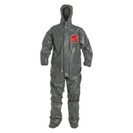 Hooded Coverall, Socks/Boot Flaps, 3XL, PK2