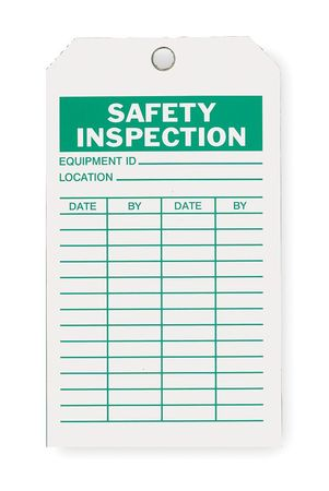 Saf Inspection Tag, 7 x 4 In, Grn/Wht, PK10
