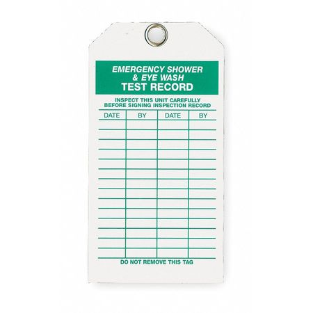 Eye Wash/Shower Inspection Tag, PK10