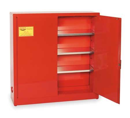 Aerosols Aerosols Cabinet, 24 Gal., Red