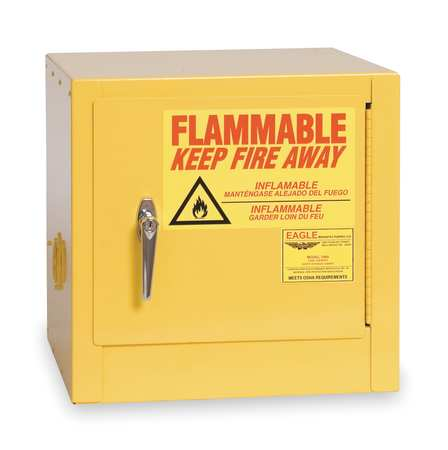 Flammable Safety Cabinet, 2 Gal., Yellow