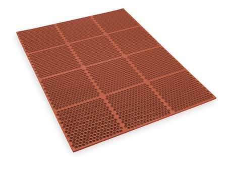 Interlock Drainage Mat, Red, 3 ft.x4 ft.