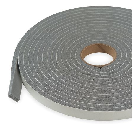Foam Seal, 17ft, Gray, PVC Closed Cell Foam