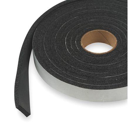 Foam Seal, 10 ft., 3/4 in. W, Black, Rubber