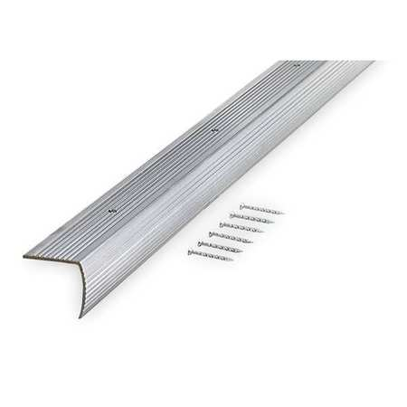 Stair Edging, Silver, 36in W, Aluminum