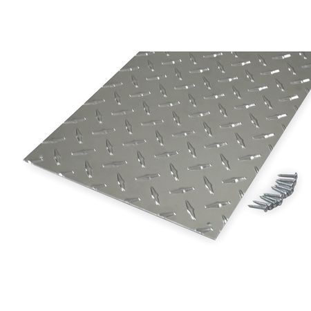 Door Protection Plate, 10Hx34W, Aluminum