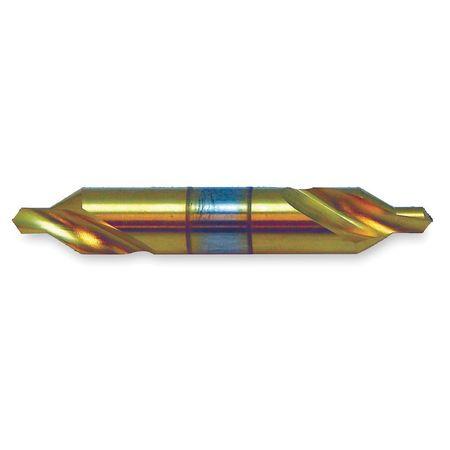 Drill/Countersink Bit, 90 Deg, #00, HSS, TiN
