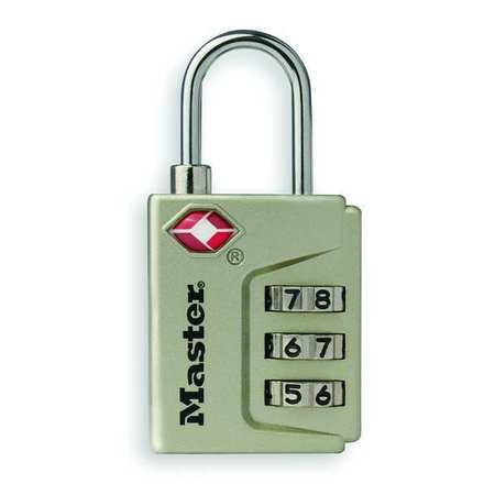 Luggage/Briefcase Padlock, Steel, Side