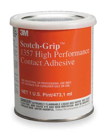Contact Adhesive, 1 Pint, Gray/Green