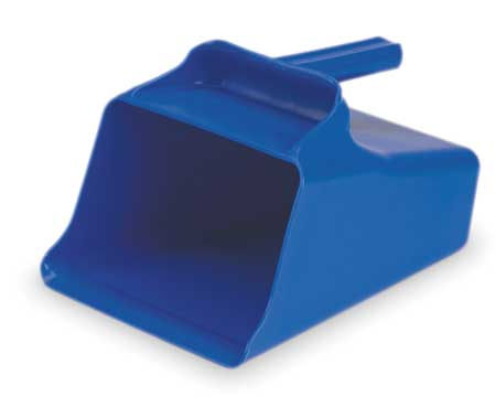 Mega Hand Scoop, Poly, 128 Oz, Blue