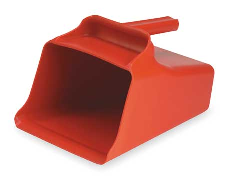 Mega Hand Scoop, Poly, 128 Oz, Red